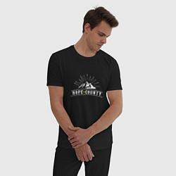 Пижама хлопковая мужская Hope Count: Mountain цвета черный — фото 2
