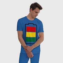Пижама хлопковая мужская Happy Battary цвета синий — фото 2