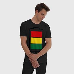 Пижама хлопковая мужская Happy Battary цвета черный — фото 2