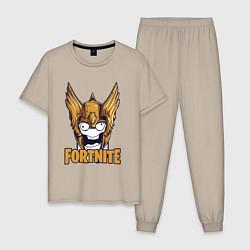 Пижама хлопковая мужская Fortnite Angel цвета миндальный — фото 1