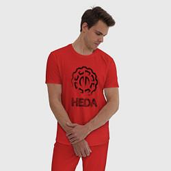 Пижама хлопковая мужская Heda цвета красный — фото 2