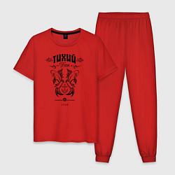 Пижама хлопковая мужская Тихий Дон 1749 цвета красный — фото 1