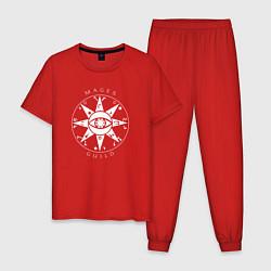 Пижама хлопковая мужская TES: Mages Guild цвета красный — фото 1