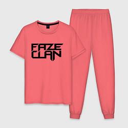 Пижама хлопковая мужская FaZe Clan цвета коралловый — фото 1