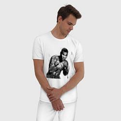 Пижама хлопковая мужская Myke Tyson: Boxing цвета белый — фото 2