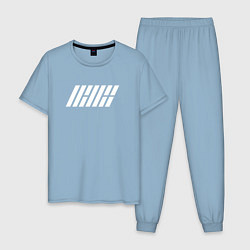 Пижама хлопковая мужская IKON цвета мягкое небо — фото 1