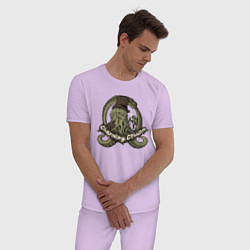 Пижама хлопковая мужская Charming Cthulhu цвета лаванда — фото 2