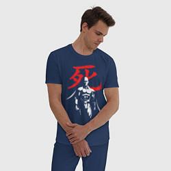 Пижама хлопковая мужская Saitama Hero цвета тёмно-синий — фото 2