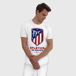 Пижама хлопковая мужская Atlecito de Madrid цвета белый — фото 2