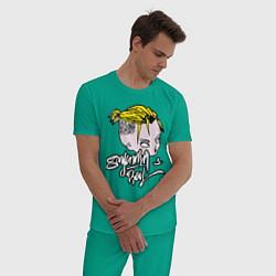 Пижама хлопковая мужская Sayonara Boy цвета зеленый — фото 2
