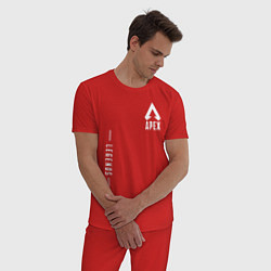 Пижама хлопковая мужская Apex Legends Gamer цвета красный — фото 2