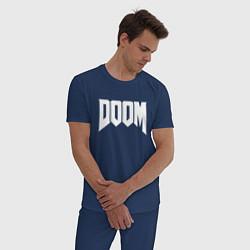 Пижама хлопковая мужская DOOM цвета тёмно-синий — фото 2