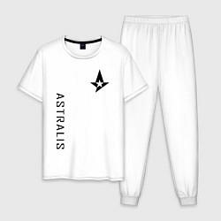 Пижама хлопковая мужская Astralis GG цвета белый — фото 1