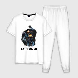 Пижама хлопковая мужская Apex Legends: Pathfinder цвета белый — фото 1