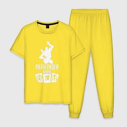 Пижама хлопковая мужская AL: Pathfinder Main цвета желтый — фото 1
