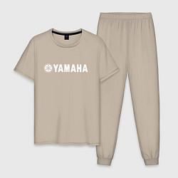Пижама хлопковая мужская YAMAHA цвета миндальный — фото 1