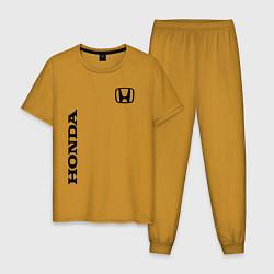 Пижама хлопковая мужская HONDA цвета горчичный — фото 1