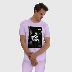 Пижама хлопковая мужская Hulk Poster цвета лаванда — фото 2