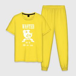 Пижама хлопковая мужская Wanted Nita цвета желтый — фото 1