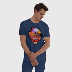 Пижама хлопковая мужская Brawl Stars цвета тёмно-синий — фото 2