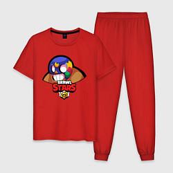 Пижама хлопковая мужская Brawl Stars цвета красный — фото 1