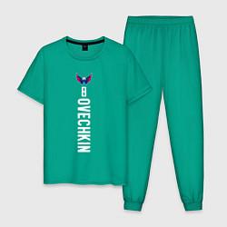 Пижама хлопковая мужская Washington Capitals: Alexander Ovechkin цвета зеленый — фото 1