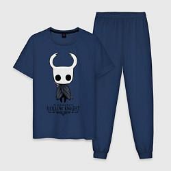 Пижама хлопковая мужская Hollow Knight цвета тёмно-синий — фото 1