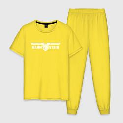 Пижама хлопковая мужская Rammstein цвета желтый — фото 1
