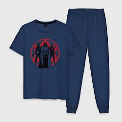 Пижама хлопковая мужская Krennic and Elite security цвета тёмно-синий — фото 1