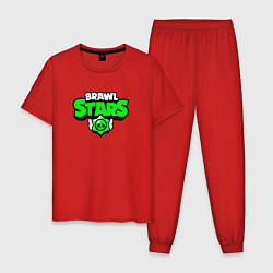 Пижама хлопковая мужская BRAWLSTARS цвета красный — фото 1