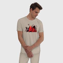 Пижама хлопковая мужская Ant-man цвета миндальный — фото 2