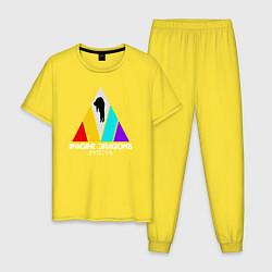 Пижама хлопковая мужская IMAGINE DRAGONS цвета желтый — фото 1