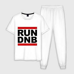 Пижама хлопковая мужская RUN DNB цвета белый — фото 1