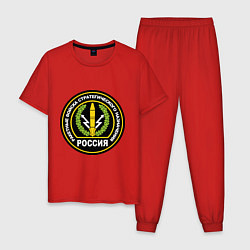 Пижама хлопковая мужская РВСН России цвета красный — фото 1