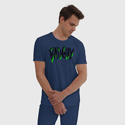 Пижама хлопковая мужская Bad Guy цвета тёмно-синий — фото 2
