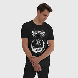 Пижама хлопковая мужская GHOSTEMANE цвета черный — фото 2