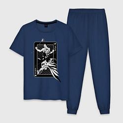 Пижама хлопковая мужская Batman vs Joker цвета тёмно-синий — фото 1