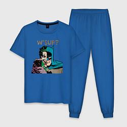 Пижама хлопковая мужская W'sup? цвета синий — фото 1