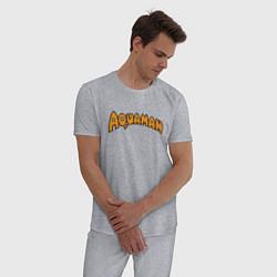 Пижама хлопковая мужская Aquaman цвета меланж — фото 2
