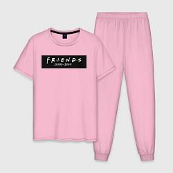 Пижама хлопковая мужская Television Series Friends цвета светло-розовый — фото 1