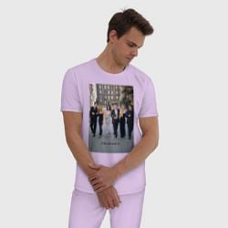 Пижама хлопковая мужская Friends цвета лаванда — фото 2