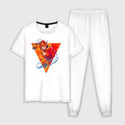 Пижама хлопковая мужская Flash, Justice League цвета белый — фото 1