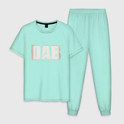 Пижама хлопковая мужская DAB цвета мятный — фото 1