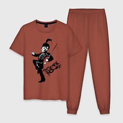 Пижама хлопковая мужская My Chemical Romance цвета кирпичный — фото 1