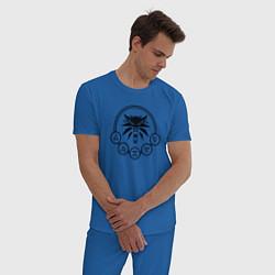 Пижама хлопковая мужская ВЕДЬМАК цвета синий — фото 2