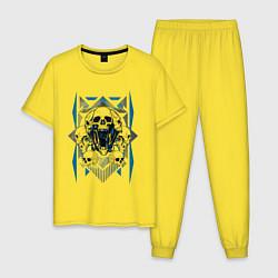 Пижама хлопковая мужская Bondo цвета желтый — фото 1