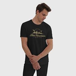 Пижама хлопковая мужская Алтай Gold Classic цвета черный — фото 2