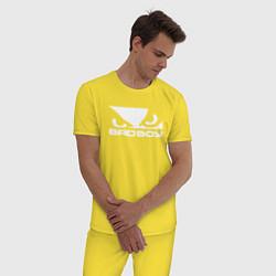 Пижама хлопковая мужская BADBOY цвета желтый — фото 2