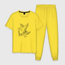 Пижама хлопковая мужская LIL PEEP цвета желтый — фото 1