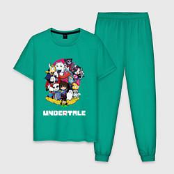 Пижама хлопковая мужская UNDERTALE цвета зеленый — фото 1